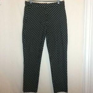 Women's polka dot straight leg pants. Size 8 HM